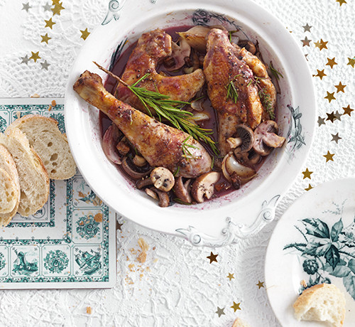 Rezept zum Sonntag und für Feiertage: Coq au Vin